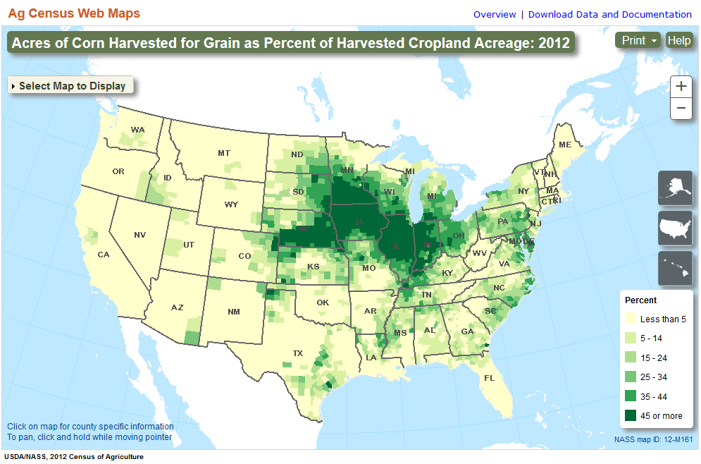 Group Useful To Usable U2u Decision Dashboard - Us-corn-belt-map
